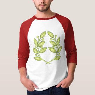 Men shirt  with crystal laurel wreath
