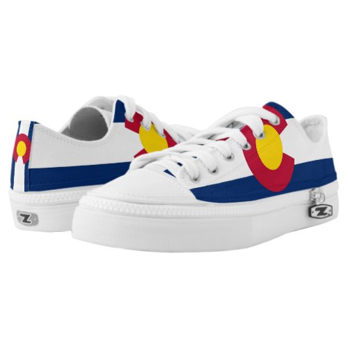 Men Shoes with Flag of Colorado
