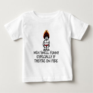 Men smell funny babywear tee shirt