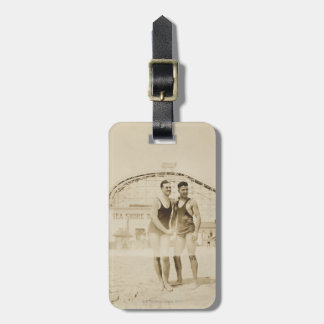 Men Standing on Beach Tags For Bags