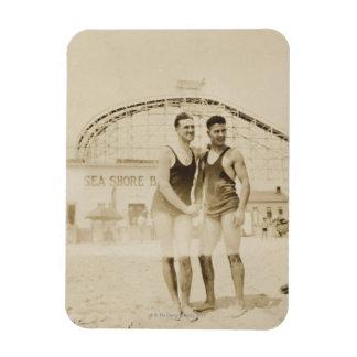 Men Standing on Beach Magnet