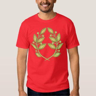 Men T-shirt  with crystal laurel wreath