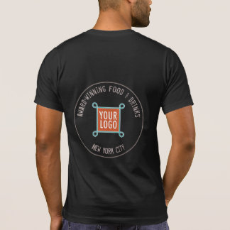 Men T-Shirt with Custom Logo on Back or Front