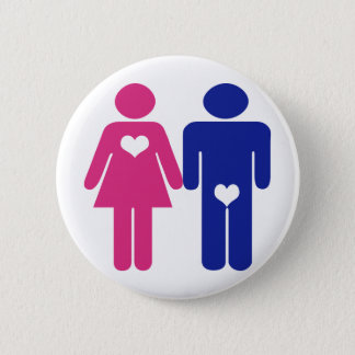 Men VS Women Novelty Fun Buttons