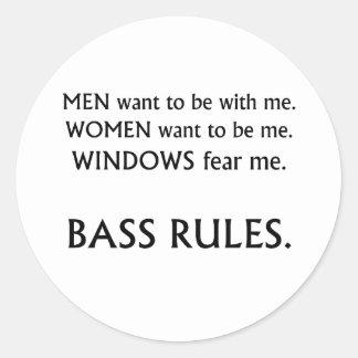 Men want me, women want, windows fear me black txt round sticker