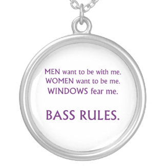 Men want me, women want, windows fear me purple silver plated necklace