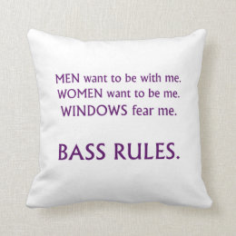 Men want me, women want, windows fear me purple throw pillow