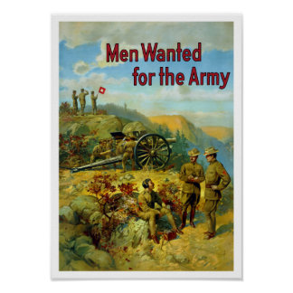 Men Wanted For The Army -- WW1 Poster