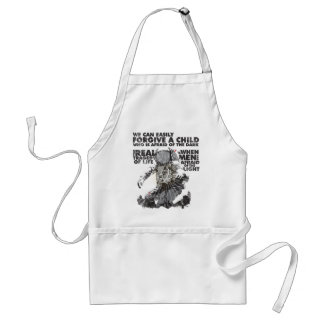 Men Who are Afraid of the Light Adult Apron