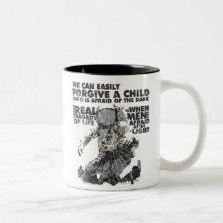 Men Who are Afraid of the Light Two-Tone Coffee Mug