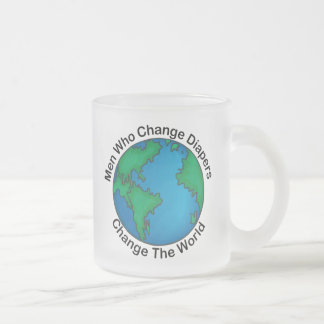 Men Who Change Diapers Change The World Frosted Glass Coffee Mug