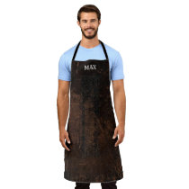 Men Who Cook Faux Vintage Leather Personalized Apron