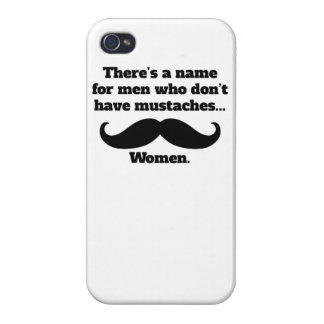 Men Who Don't Have Mustaches Cover For iPhone 4