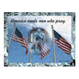 Men Who Pray Postcard