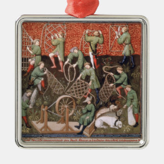 Men with nets ornament