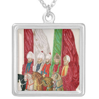 Men with Standards Following the Seigneur to Silver Plated Necklace