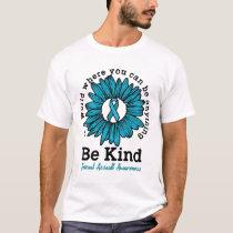 Men Women Awareness Be Kind Sunflower Gifts T-Shirt