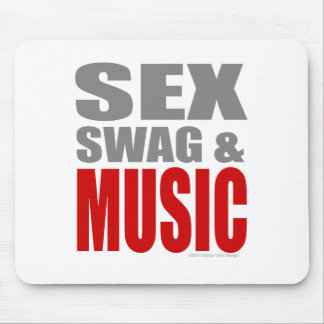 Men Womens SEXSWAG & MUSIC Mouse Pad