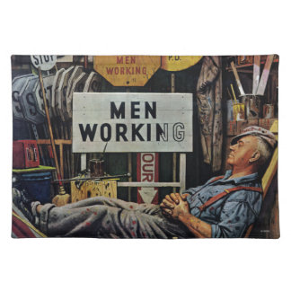 Men Working Cloth Placemat