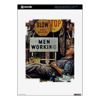 Men Working iPad 3 Decal