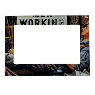 Men Working Magnetic Photo Frame
