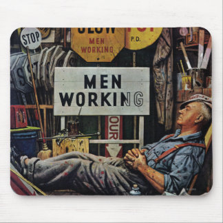 Men Working Mouse Pad