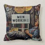 Men Working Pillow