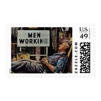 Men Working Postage
