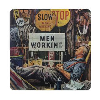 Men Working Puzzle Coaster