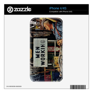 Men Working Skin For iPhone 4S