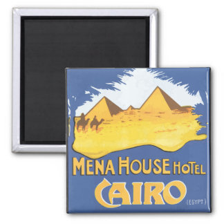 Mena House Hotel Cairo Egypt, Vintage 2 Inch Square Magnet
