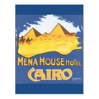 Mena House Hotel Cairo Vintage Travel Poster Postcard