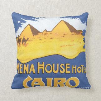 Mena House Hotel Cairo Vintage Travel Poster Throw Pillow
