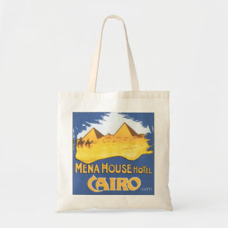 Mena House Hotel Cairo Vintage Travel Poster Tote Bag