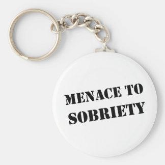 Menace To Sobriety Keychain