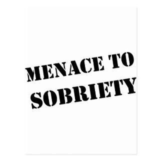 Menace To Sobriety Postcard