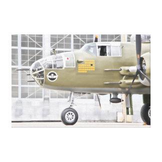 Menacing Bomber Canvas Print