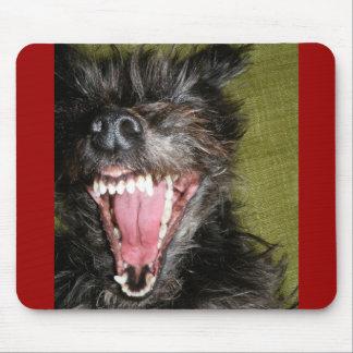 Menacing dog mouse pad