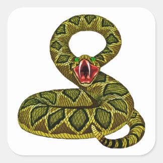 Menacing Rat Snake Square Sticker