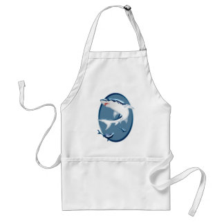 Menacing Underwater Sharks Adult Apron