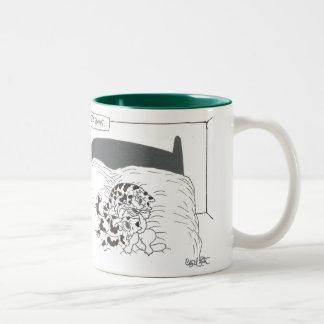 Menage' a paws Two-Tone coffee mug