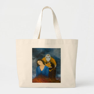 Menage a Trois Large Tote Bag