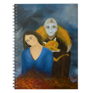 Menage a Trois Spiral Notebook