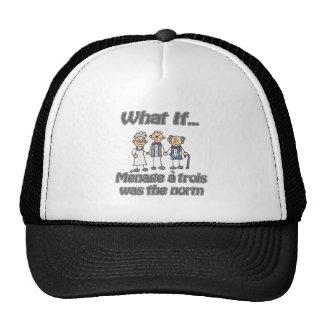 Ménage à trois trucker hat