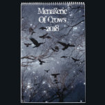 """Menagerie Of crows 2018 Calendar<br><div class=""""desc"""">An eclectic mix of crows for the year 2018 made from my crow photographs. This crow calendar has lots of colors with a touch of quirkiness to match the seasons. Do a little customizing of your own just click the blue customize button and have some fun.</div>"""