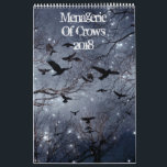 "Menagerie Of crows 2018 Calendar<br><div class=""desc"">An eclectic mix of crows for the year 2018 made from my crow photographs. This crow calendar has lots of colors with a touch of quirkiness to match the seasons. Do a little customizing of your own just click the blue customize button and have some fun.</div>"