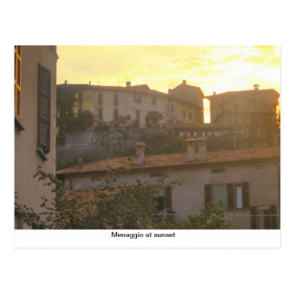 Menaggio at sunset, Lake Como Postcard