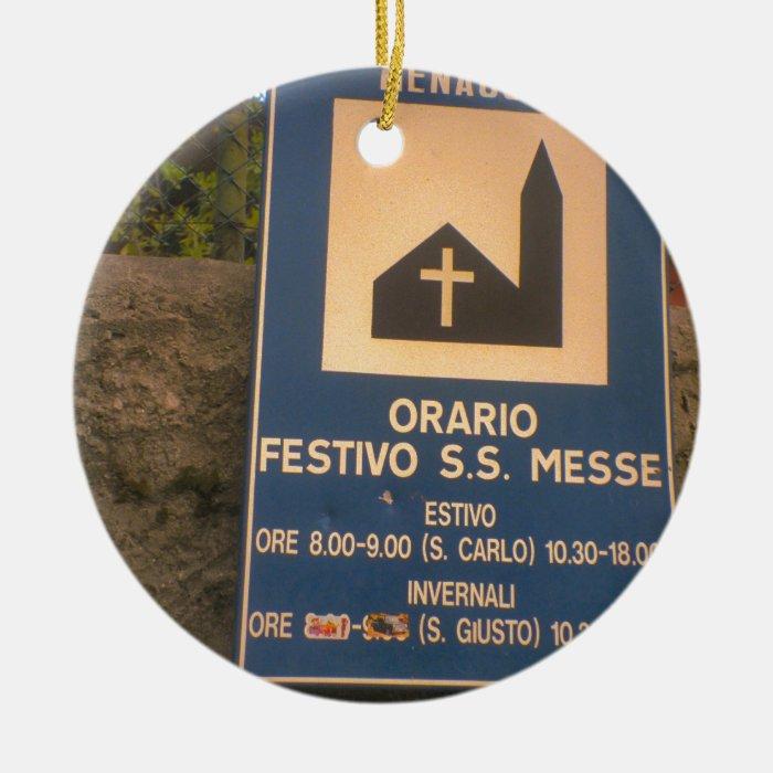 Menaggio, Como, times of Mass Ceramic Ornament