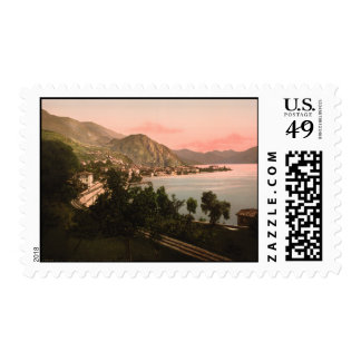 Menaggio II, lago Como, Lombardía, Italia Estampillas