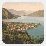 Menaggio III, lago Como, Lombardía, Italia Pegatina Cuadrada